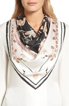 Ted Baker Women's Queen Bee Square Silk Scarf