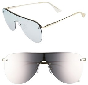 Le Specs Women's The King 58Mm Shield Sunglasses - Gold