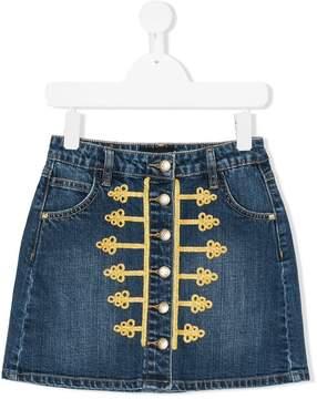 John Richmond Kids cornelli braid denim skirt