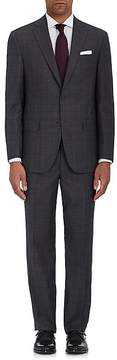 Piattelli MEN'S NAPOLI CT CHECKED WOOL TWO-BUTTON SUIT