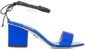 Paul Andrew Estes contrast ankle strap sandals