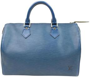 Louis Vuitton Speedy leather satchel - BLUE - STYLE