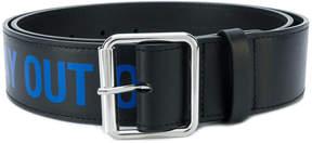 Raf Simons printed belt