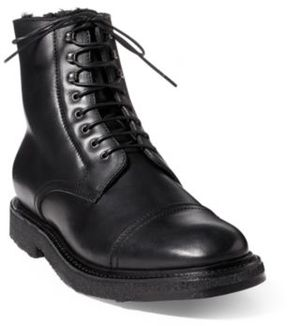 Ralph Lauren Trystan Vachetta Leather Boot Black 10.5 D
