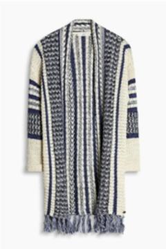 Esprit Fringed Cardigan Sweater