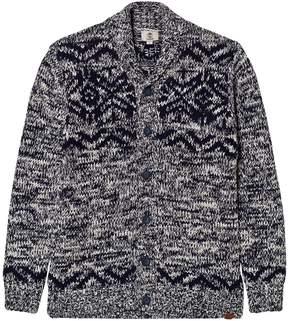 Timberland Kids Grey Wool Shawl Neck Cardigan