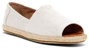 Toms Alpargata Open Toe Slip-On Flat