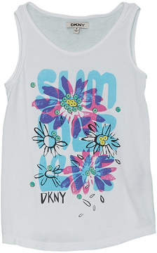 DKNY Girls' Sumer Floral Tank