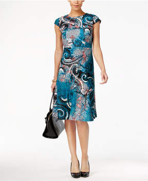 ECI Printed A-Line Dress