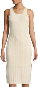 Astr Open-Weave Cable-KNit Midi Sheath Dress