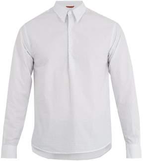 Barena VENEZIA Half-button geometric-print cotton shirt