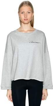 Diesel Logo Detail Crop Cotton Sweatshirt