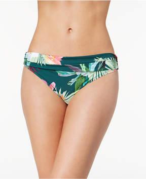 LaBlanca La Blanca Beyond the Jungle Printed Shirred Bikini Bottoms Women's Swimsuit