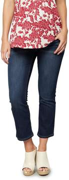 A Pea in the Pod Luxe Essentials Denim Secret Fit Belly Cropped Flare Maternity Jeans