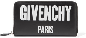 Givenchy Printed Leather Continental Wallet - Black