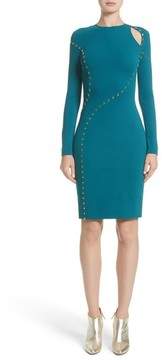 Women's Versace Collection Studded Cutout Dress