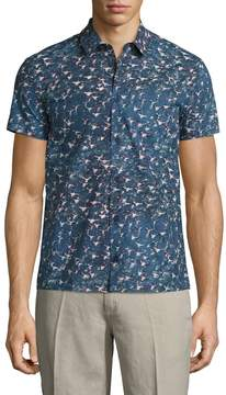 Orlebar Brown Men's Linen Printed Shirt