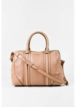 Givenchy Pre-owned Beige Leather Top Handle Medium lucrezia Duffle Bag.