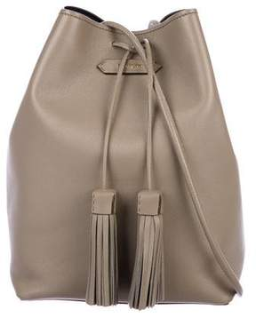 Tom Ford Leather Double Tassel Bucket Bag