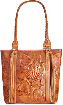 Patricia Nash Burnished Tooled Rena Tote