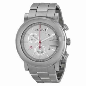 Gucci 101 G-Round White Chronograph Men's Watch YA101339