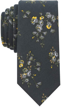 Bar III Men's Scattered Floral Skinny Tie, Created for Macy's
