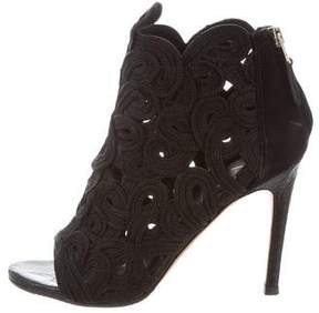 Brian Atwood Peep-Toe Ankle Boots