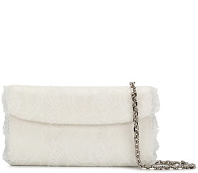 Casadei foldover lace clutch bag