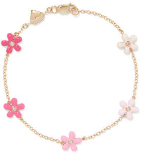 Alison Lou Wild Flower 14-karat Gold, Diamond And Enamel Bracelet
