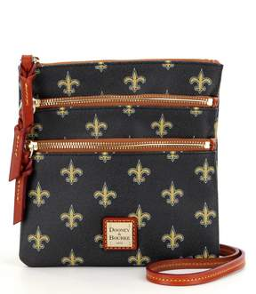 Dooney & Bourke NFL Collection New Orleans Saints Triple-Zip Cross-Body Bag - BLACK - STYLE