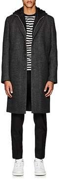 Officine Generale Men's Herringbone-Pattern Wool Flannel Topcoat