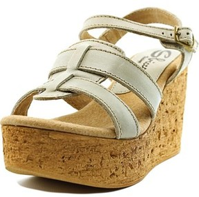 Sbicca Seacliff Women Open Toe Leather Wedge Sandal.