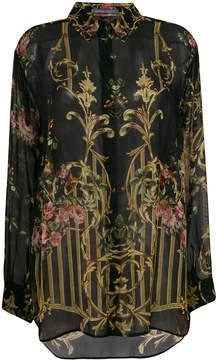 Alberta Ferretti floral print sheer shirt