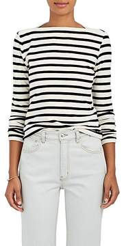 Faith Connexion Women's Striped Cotton-Blend Velvet Top