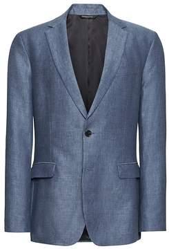 Banana Republic Standard Blue Linen Suit Jacket