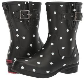 Chooka Classic Mid Lottie Dot Women's Rain Boots