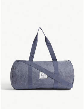 Herschel Dark Chambray Blue Crosshatch Woven Sutton Mid Volume Duffle Bag
