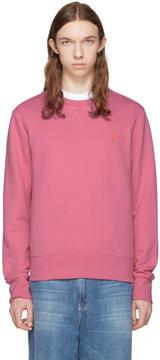 Ami Alexandre Mattiussi Pink Crewneck Sweatshirt