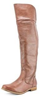 XOXO Bardot Round Toe Synthetic Knee High Boot.