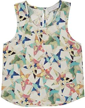 Stella McCartney Kids' Kiri Star-Print Silk Blouse