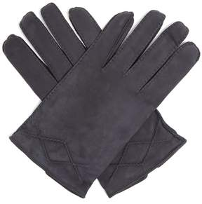 Dunhill Stitch-detail nubuck-leather gloves