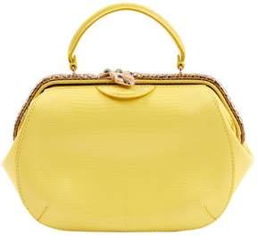 Bulgari Yellow Lizard Handbag