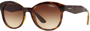 Vogue VO2992S 53mm Round Gradient Sunglasses