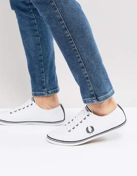 Fred Perry Kingston Leather Tipped Sneakers In White