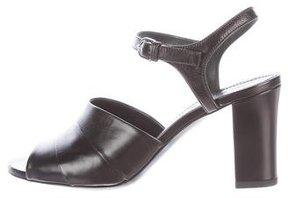 Jil Sander Leather Peep-Toe Sandals w/ Tags