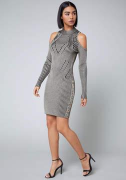 Bebe Cold Shoulder Sweater Dress