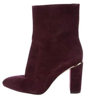 Brian Atwood Suede Pointed-Toe Ankle Boots