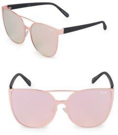 Quay Mirrored 60MM Cat Eye Sunglasses
