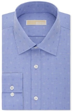 MICHAEL Michael Kors Mens Polka Dotted Classic Fit Button-Down Shirt