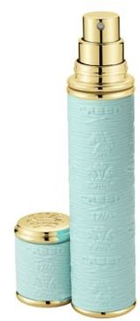 Creed Refillable Leather & Goldtone Trim Pocket Atomizer/Turquoise